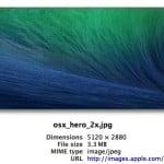 "Apple Posts 27"" Retina iMac-Sized OS X Mavericks Background"